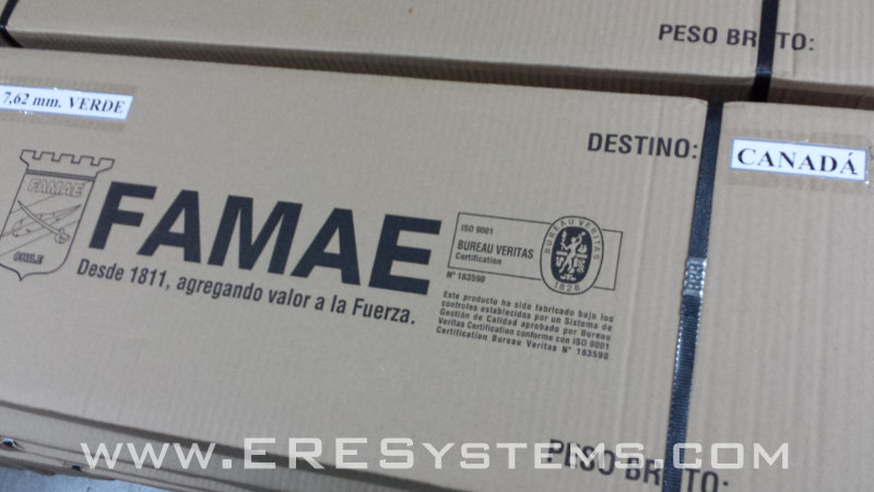 FAMAE SG-542 ERE Elite rifle packagin