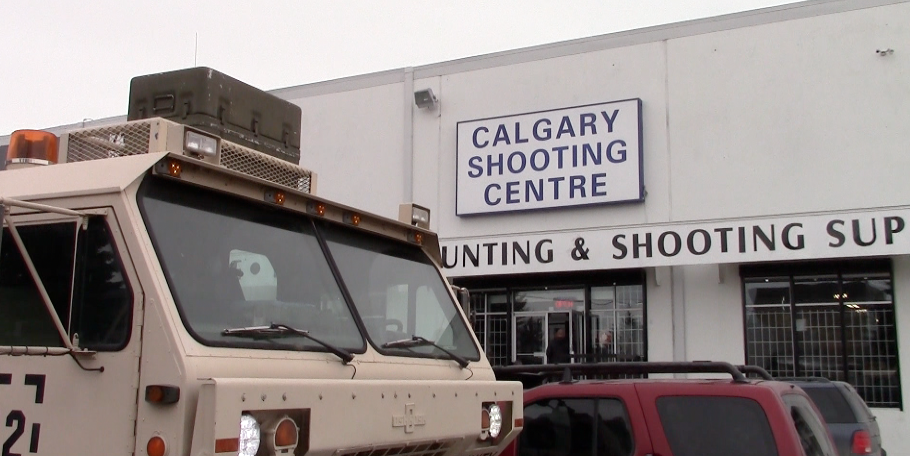 FAMAE rifles at the Calgary Shooting Centre